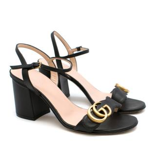 Gucci Black Marmont Block Heel Sandals
