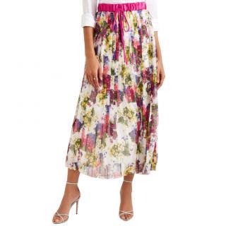 Dolce & Gabbana chiffon pleated midi skirt