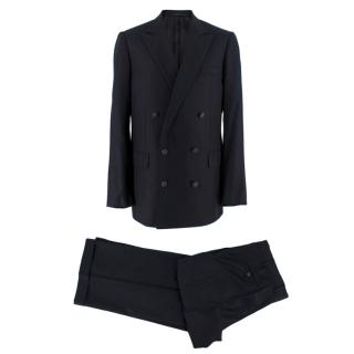 Lanvin Wool Dark Navy Double Breasted Two Piece Suit