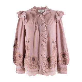 Sea New York Mauve Boho Embroidered Shirt