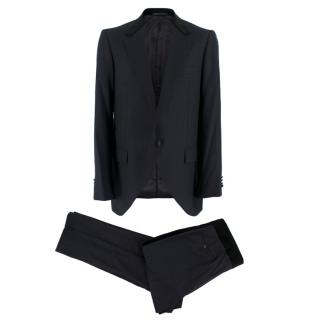 Lanvin Dark Navy Wool Pinstripe Two Piece Suit