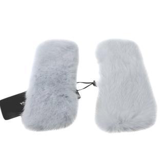 Dolce & Gabbana Grey Mink Fur Cuffs