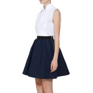 Acne A-Line Navy Wool Felt Skirt