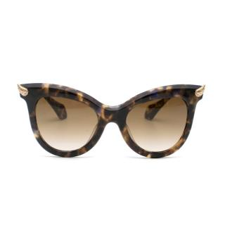 Vivienne Westwood Tortoiseshell Cat Eye Horn Sunglasses