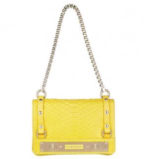 Versace Yellow Python Shoulder Bag