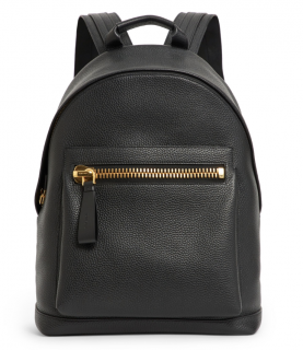 Tom Ford black Leather Buckley Backpack