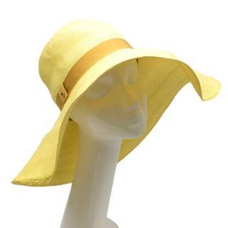 Loro Piana Yellow Floppy Beach Hat