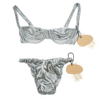 Isa Boulder Steel Satin Brie/Jessie Bikini - New Season