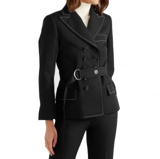 Chloe Belted Double Breasted Twill Blazer