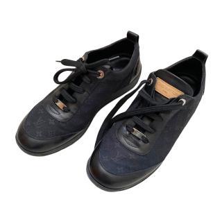 Louis Vuitton Black Monogram Canvas & leather Sneakers