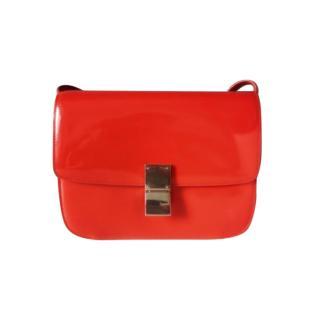 Celine Limited Edition Vermillion Patent Box Bag