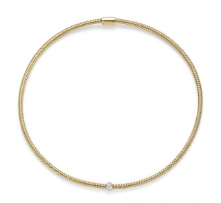 Roberto Coin Diamond Primavera Necklace in Yellow Gold