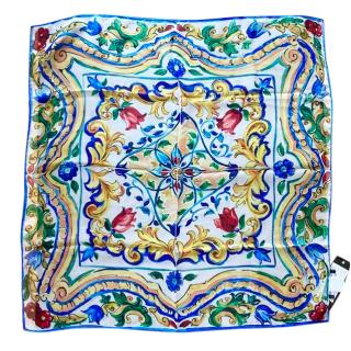 Dolce & Gabbana Sicily Print Silk Scarf