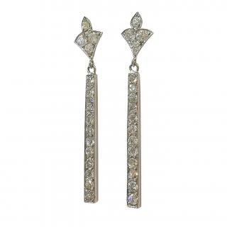 Bespoke Victorian Diamond Bar Earrings