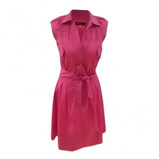 Loro Piana Pink Sleeveless Shirt Dress