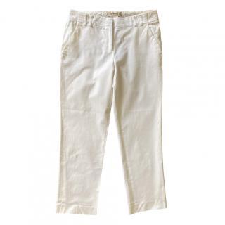 Etro White Cropped Pants