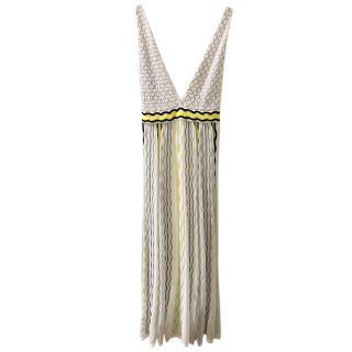 M Missoni Knit Sleeveless Midi Dress