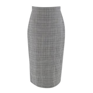 Ermanno Scervino Grey Check Pencil Skirt