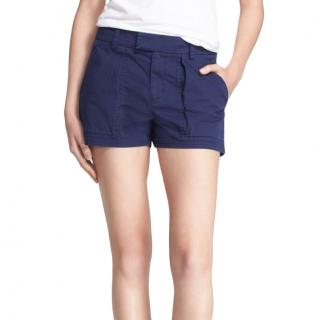 Vince Indigo Stretch Cotton Shorts