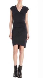 Helmut Lang Torrent Side Ruched Dress