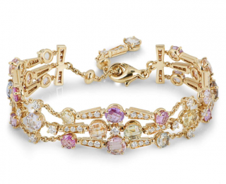 Bvlgari Yellow Gold Sapphire and Diamond Bracelet