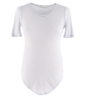 Frances De Lourdes Cashmere & Silk Blue Grey T-shirt