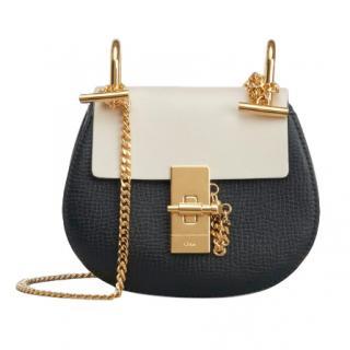 Chloe Small Grain & Smooth Calfskin Mini Drew Bag