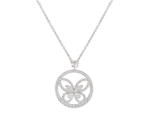 Graff White Gold Diamond Pendant Necklace