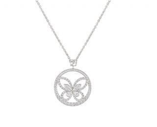 Graff White Gold Diamond Pendant Necklace