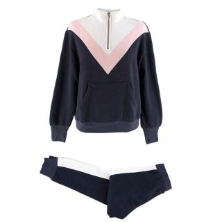 Wildfox Blue, White & Pink Tracksuit Set