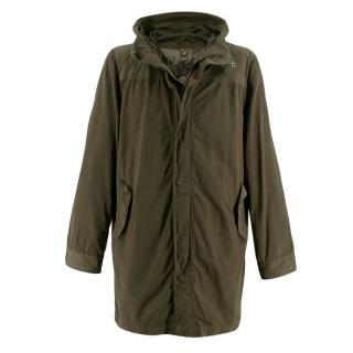 Aspesi Khaki Green Hooded 2in1 Rain Jacket