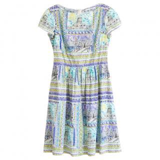 Prada Le Voyageur Collection Printed Dress