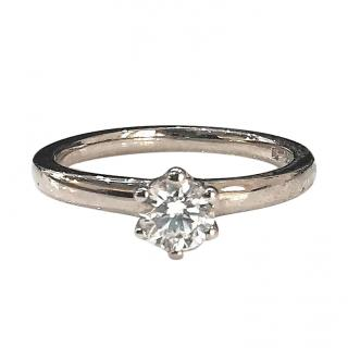 Cred Bespoke 18ct White Gold Diamond Solitaire Ring