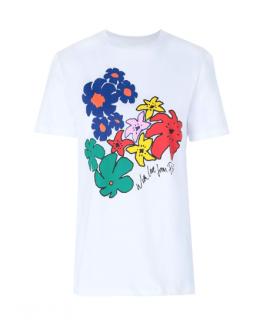 Etre Cecile White Icon Floral Pop T-Shirt