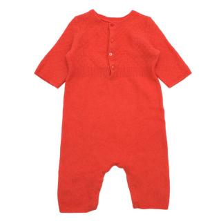 Bonpoint Coral Cashmere Babygrow