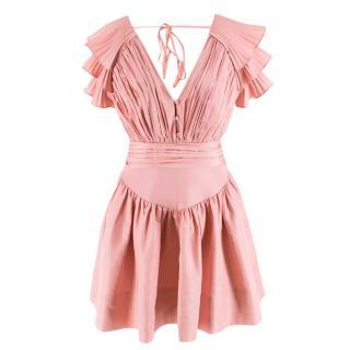 Self Portrait Pink Ruffled Mini Dress
