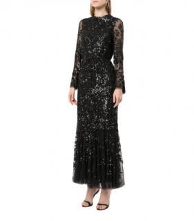 Needle & Thread Embellished Black Dress