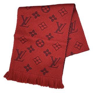 Louis Vuitton ruby red logomania scarf