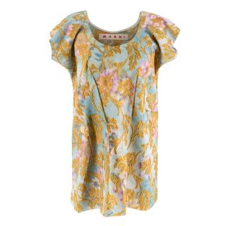 Marni Floral Embroidered Jacquard Sleeveless Top