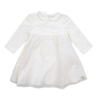 Tartine et Chocolat Ivory Winter Baby Dress