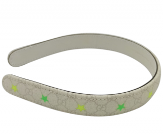 Gucci Monogram Supreme Neon Star Print Hair Band