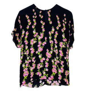 Gucci Black Rose Print Top