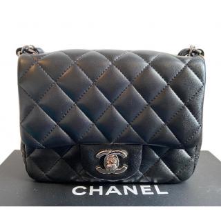 Chanel Black Lambskin Square Mini Flap Bag
