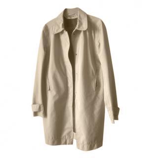 Prada Beige Classic Longline Rain Jacket