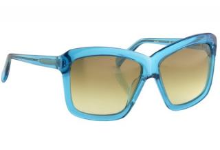 Linda Farrow Projects x Peter Pilotto Rectangular Turquoise Sunglasses
