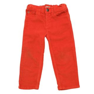 Bonpoint Baby Bright Orange Corduroy Trousers