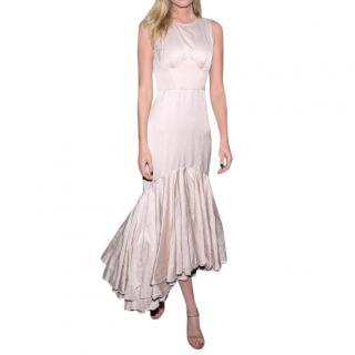 Brock Collection Silk Blush Backless Dress