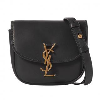 Saint Laurent Black Leather Kaia Crossbody Bag