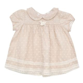 Bespoke Oatmeal Baby's Short Sleeve Summer Dress
