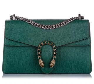 Gucci Green Dionysus Leather Shoulder Bag